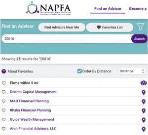 Fee-Only Financial Planners NAPFA